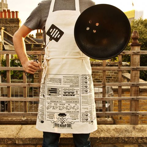 BBQ Apron with Cooking Guides