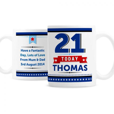 Personalised Birthday Star Mug