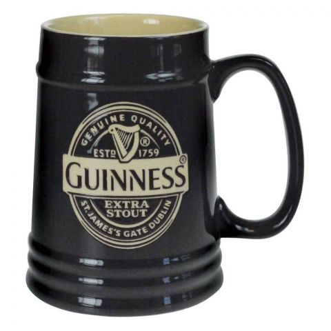 Guinness Black Ceramic Pint Tankard