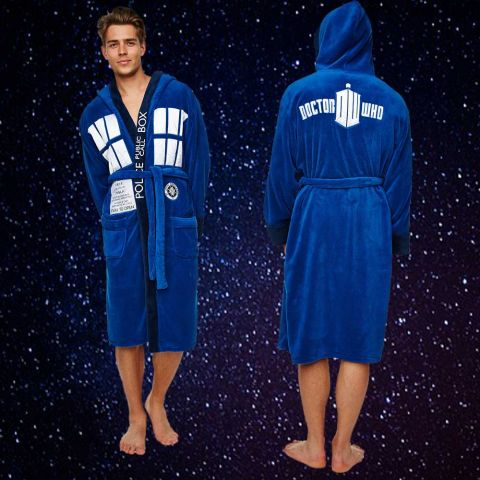 Doctor Who Tardis Adult Bath Robe
