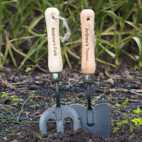 Personalised Fork & Trowel Set