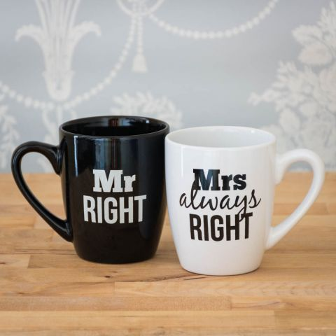Mr & Mrs Right Mug