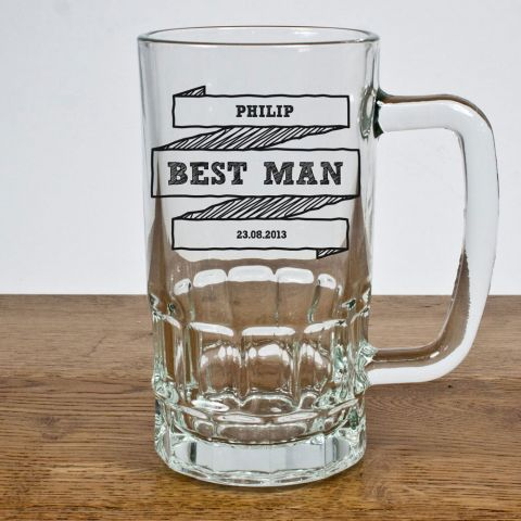 Personalised Best Man Tankard