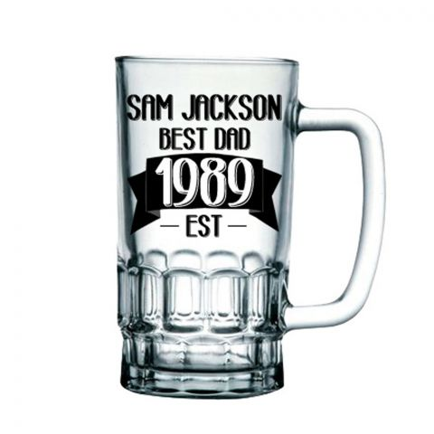 Personalised Established In Beer Tankard