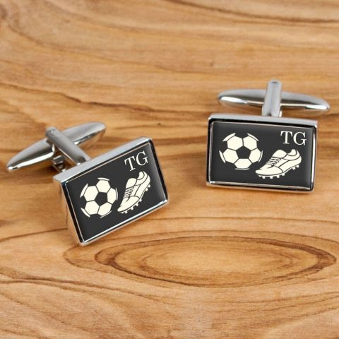 Personalised Executive Football Cufflinks