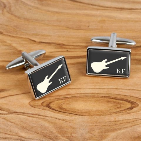 Personalised Executive Guitar Cufflinks