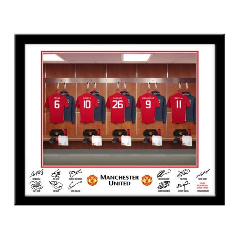 Personalised Football Dressing Room Photo