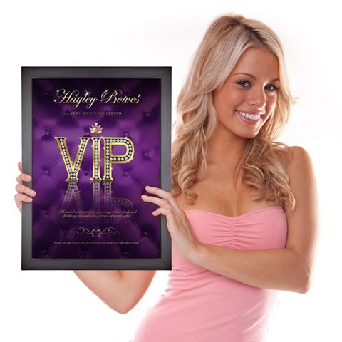 Personalised VIP Poster