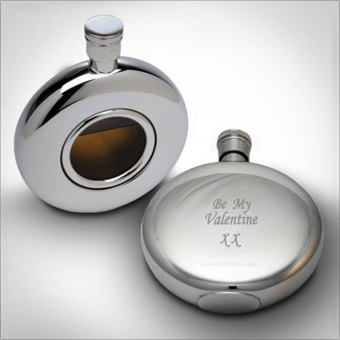Personalised Round Window Flask