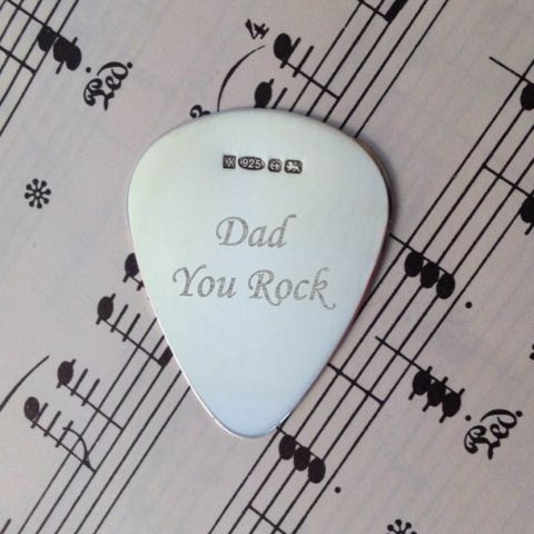 Personalised Sterling Silver Plectrum