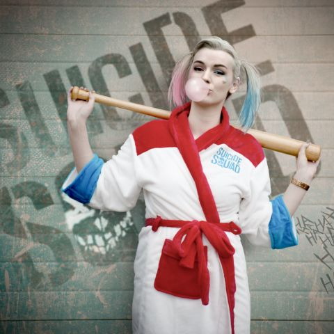 Suicide Squad Harley Quinn Bath Robe