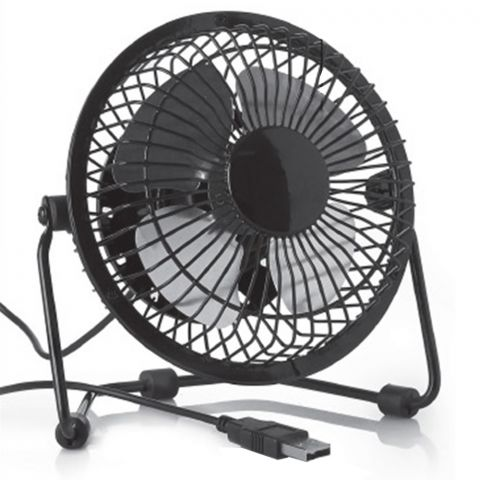 USB Retro Desk Fan Black