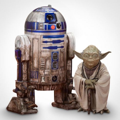 Yoda and R2-D2 2 Pack 10cm