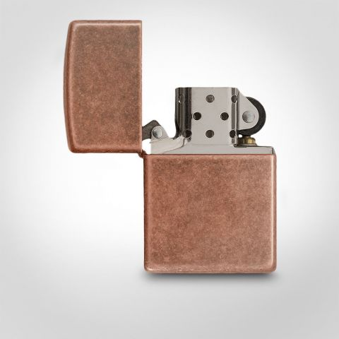 Zippo Antique Copper Cigarette Lighter