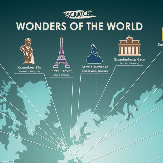 Scratch Poster - Wonders of the World