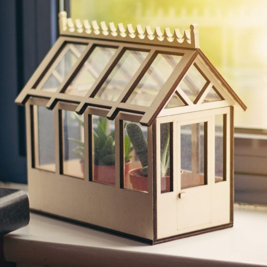 Miniature Indoor Greenhouse for Herbs and Flowers