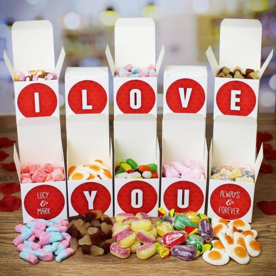 "Personalised ""I Love You"" Sweet Words Gift Boxes"