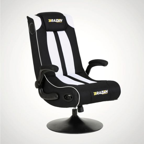 BraZen Serpent Gaming Chair – Black and White
