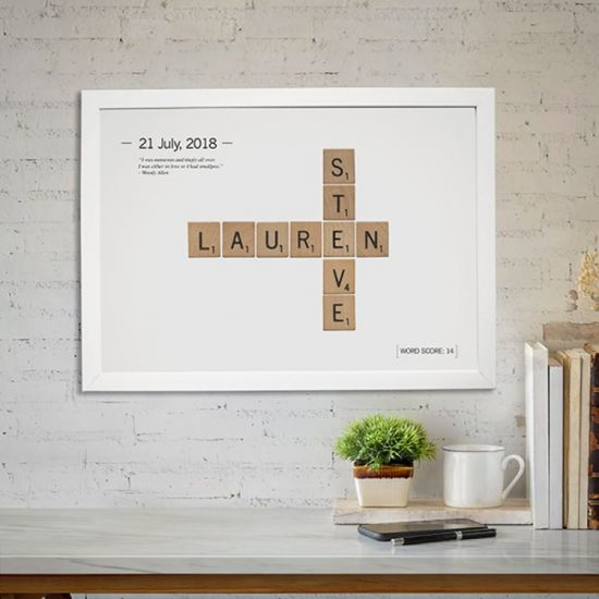 Personalised Love Tiles Poster - Lifestyle