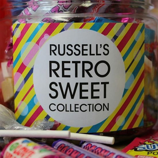 Personalised Retro Taster Sweet Jar