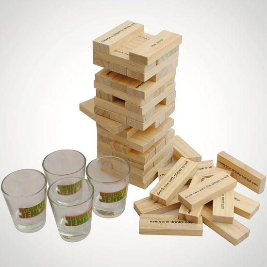 Tipple Tower Drinking Game - Grey Background