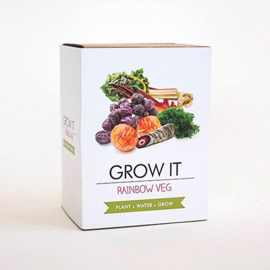 Grow Your Own Funky Veg - grey background