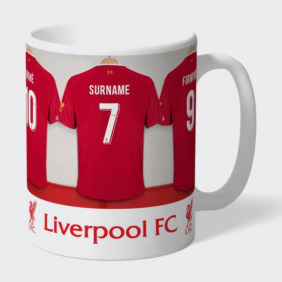 Personalised Liverpool FC Dressing Room Mug - Grey Background