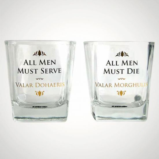 Game of Thrones Set of Two Tumblers - Grey Background