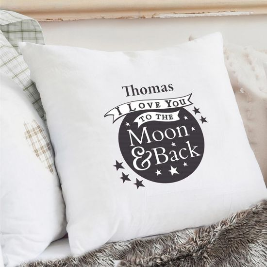 Personalised To the Moon And Back Cushion Cover