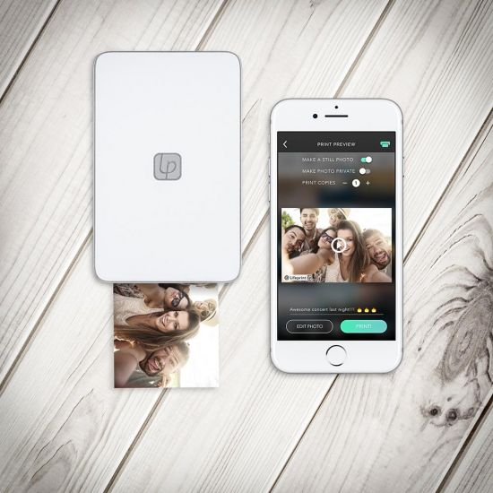 Lifeprint Printer White and phone with app