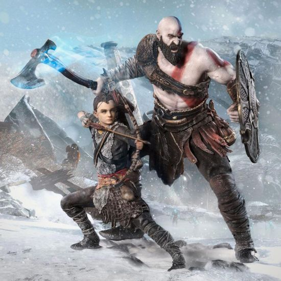 God of War Kratos and Atreus Scale Statue - Lifestyle