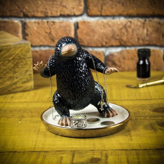 Fantastic Beasts Niffler Trinket Tray 3D on a wooden table