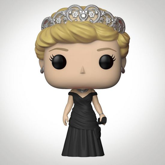 Pop! Vinyl Royal Family Diana Princess of Wales in a black ball gown on a grey background