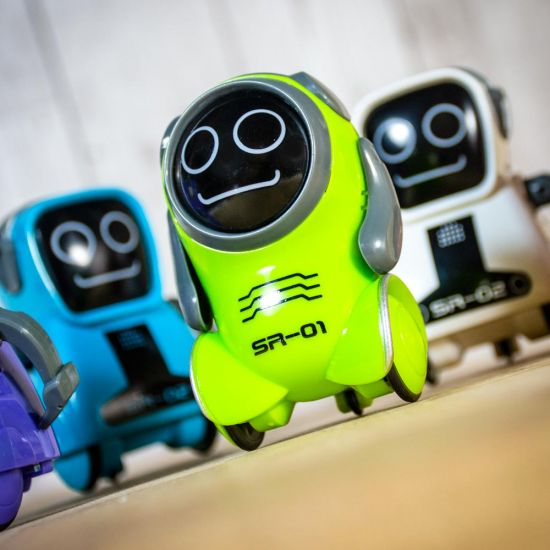 Pokibot the Portable Robot , green, white and blue