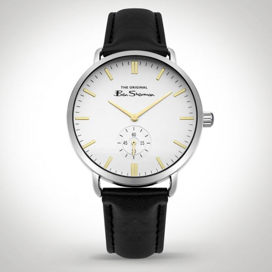 Ben Sherman BS009WB Watch Black front view on a grey background