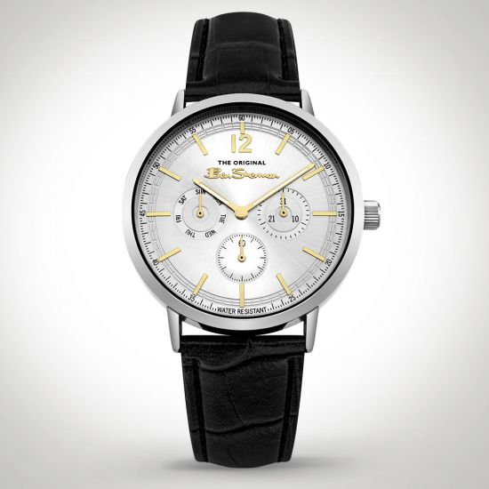 Ben Sherman BS011WB Watch Black front view on a grey background