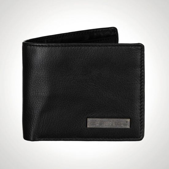 Black Leather Animal Jeremie Wallet front