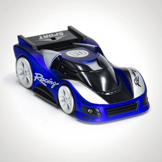 Blue Wall Climbing Car
