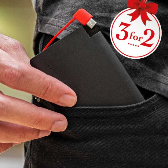 RED5 3-in-1 Mobile Credit Card Power Bank