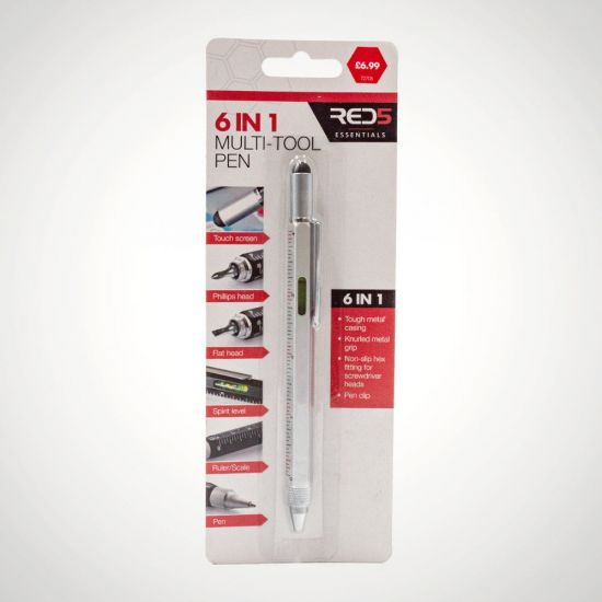 RED5 Essentials 6 in 1 Tool Pen - Grey Background
