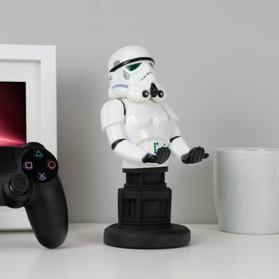 "Stormtrooper 8"" Cable Guy holding a games controller"