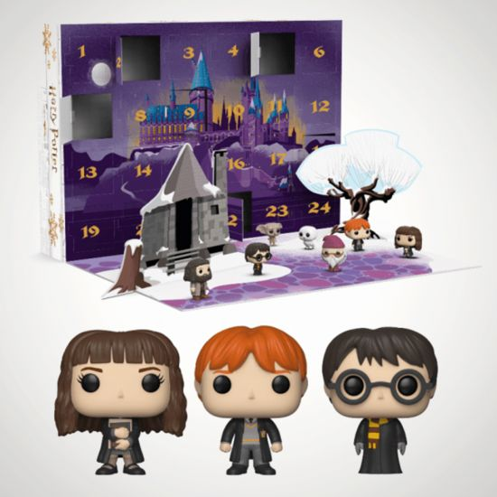Harry Potter Collectable Advent Calendar Pop! On grey background