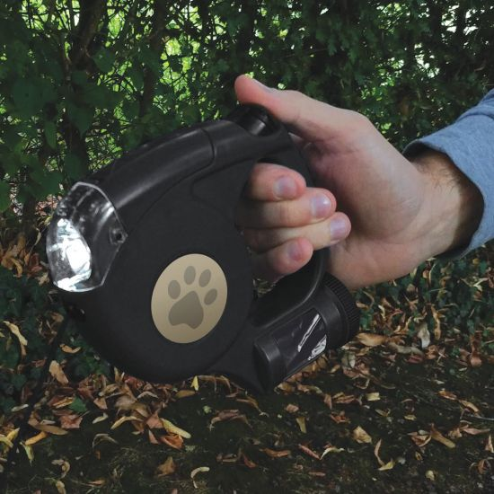 3-in-1 Retractable Dog Lead – Lead, Torch, and Bag Holder - Lifestyle