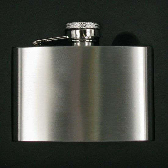 4oz Polished Flask in Gift Box