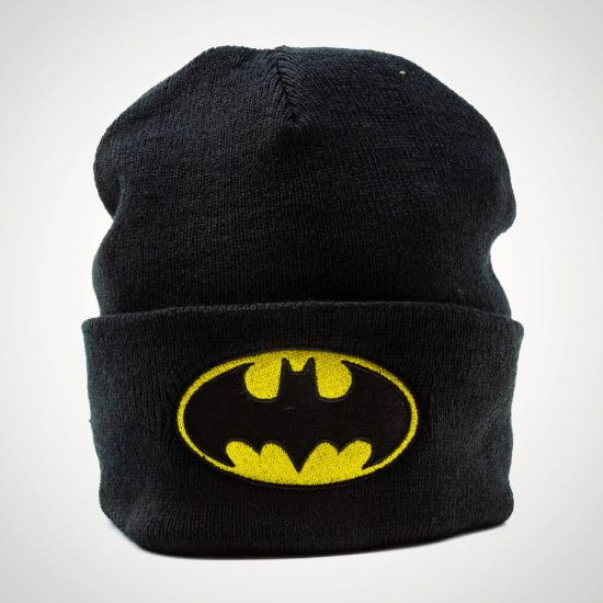 Batman Logo Beanie  - Grey Background