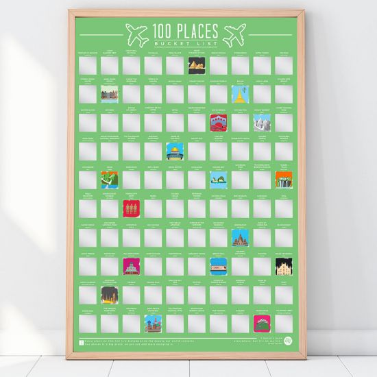 100 Places Bucket List Poster - Lifestyle