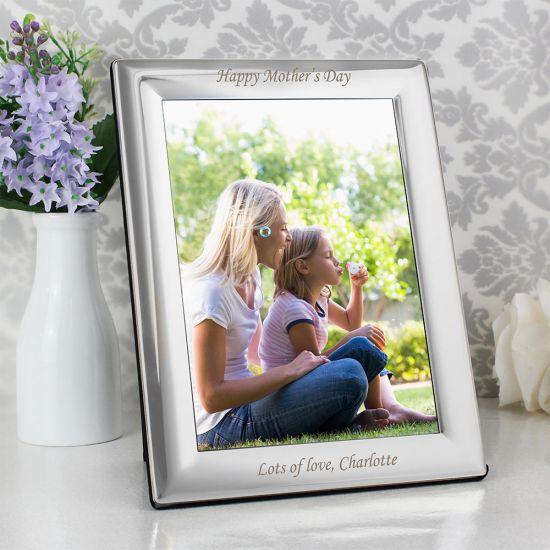 Personalised Silver Plated 5x7 Photo Frame - Lifestyle