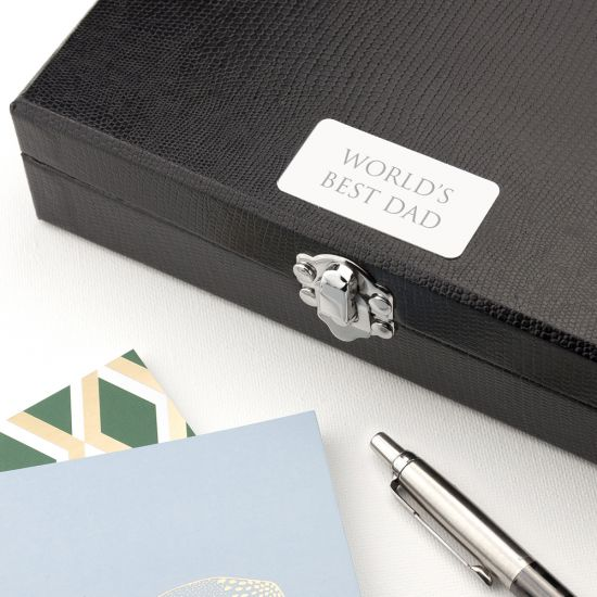 Personalised 12 Compartment Cufflink Box - Serif Lifestyle
