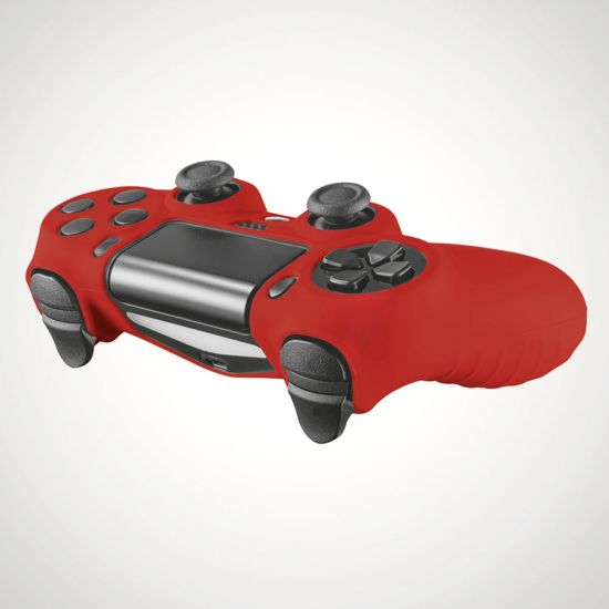 GXT 744R Rubber Skin - Red - Grey Background