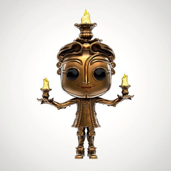 Beauty and the Beast Lumiere Pop! Vinyl - Grey Background